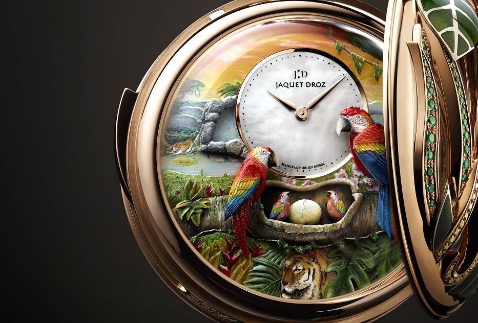 De Parrot Repeater Pocket Watch is een unieke automaton