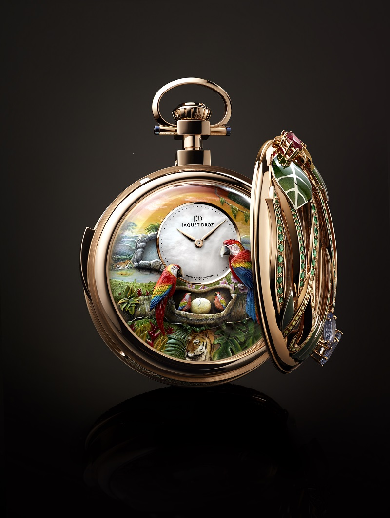 De Parrot Repeater Pocket Watch met open deksel