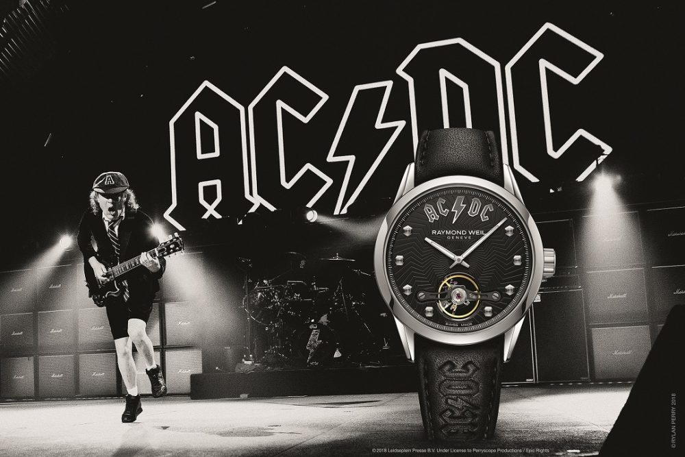 Angus Young en de Raymond Weil Freelancer AC/DC Limited Edition