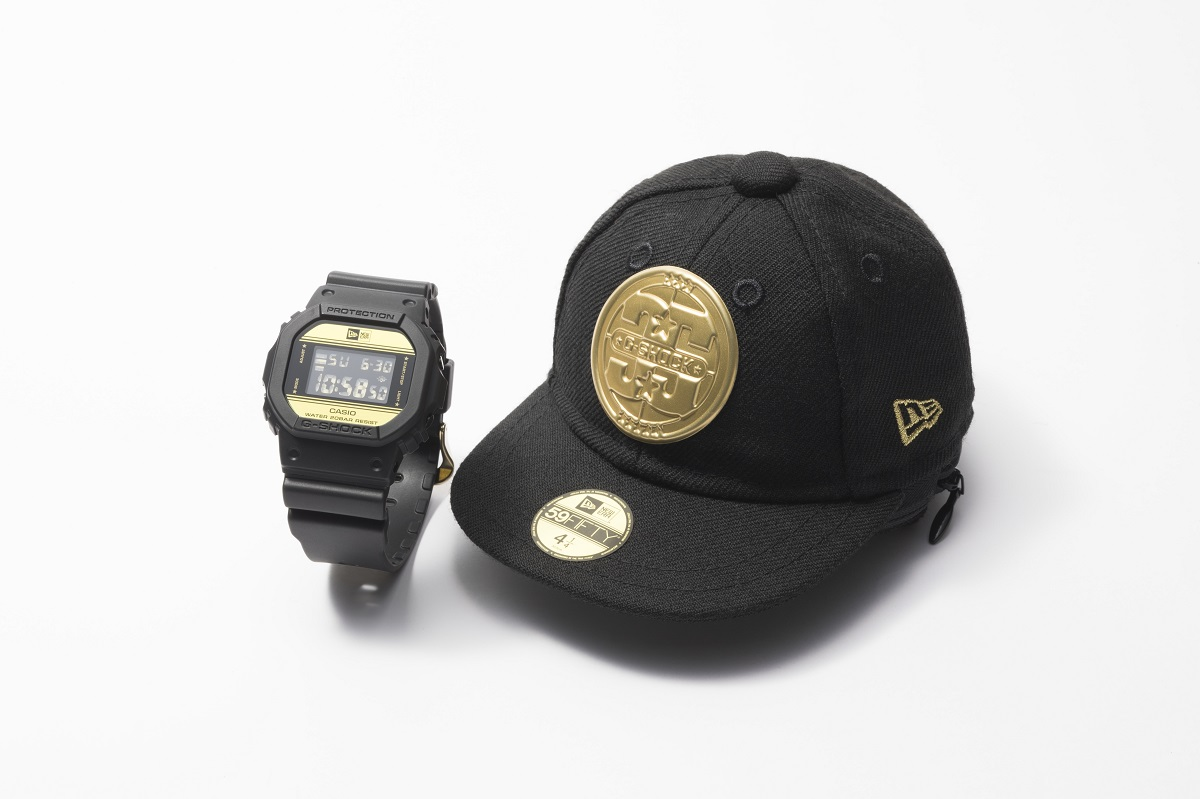 Casio G-Shock x New Era Limited Edition (DW-5600NE-1) met de speciale opbergpet