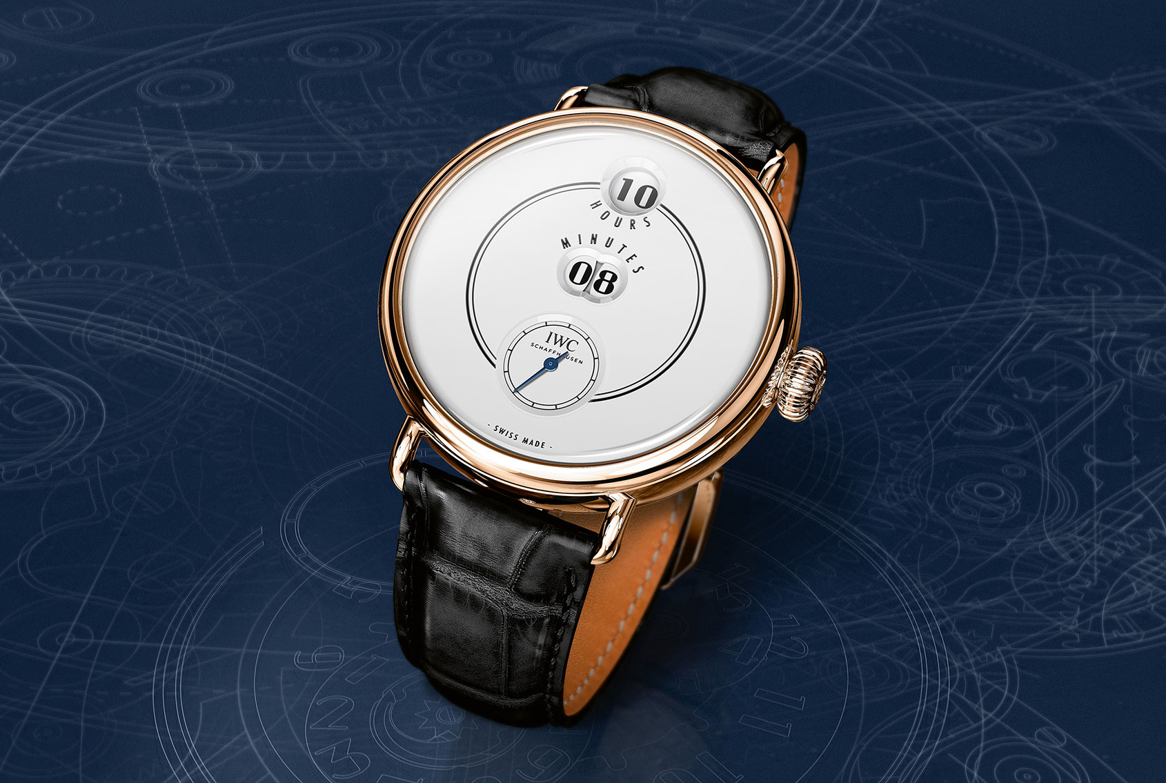"""IWC Tribute to Pallweber Edition """"150 Years"""" in roodgoud"""