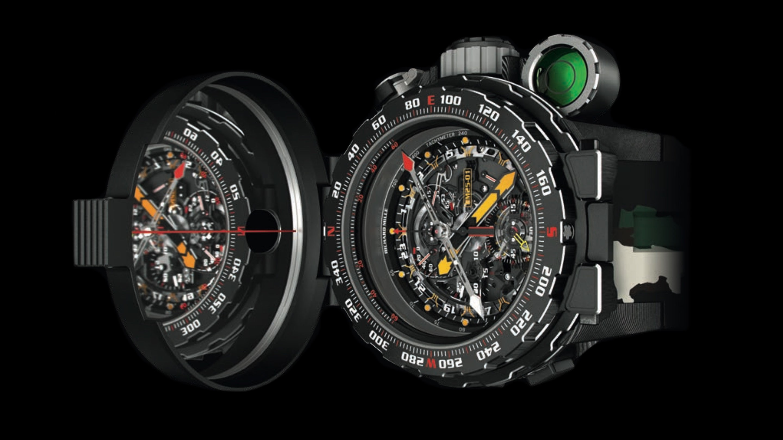 De Richard Mille RM 25-01 Tourbillon Adventure met het spigelende kompas