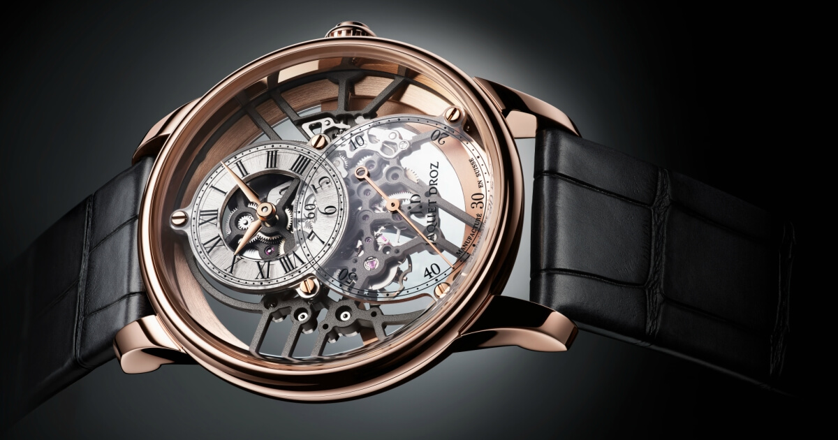 Jaquet Droz Grande Seconde Skelet-One in roodgoud