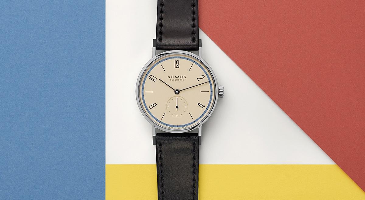 Nomos Tangente Bauhaus blauw