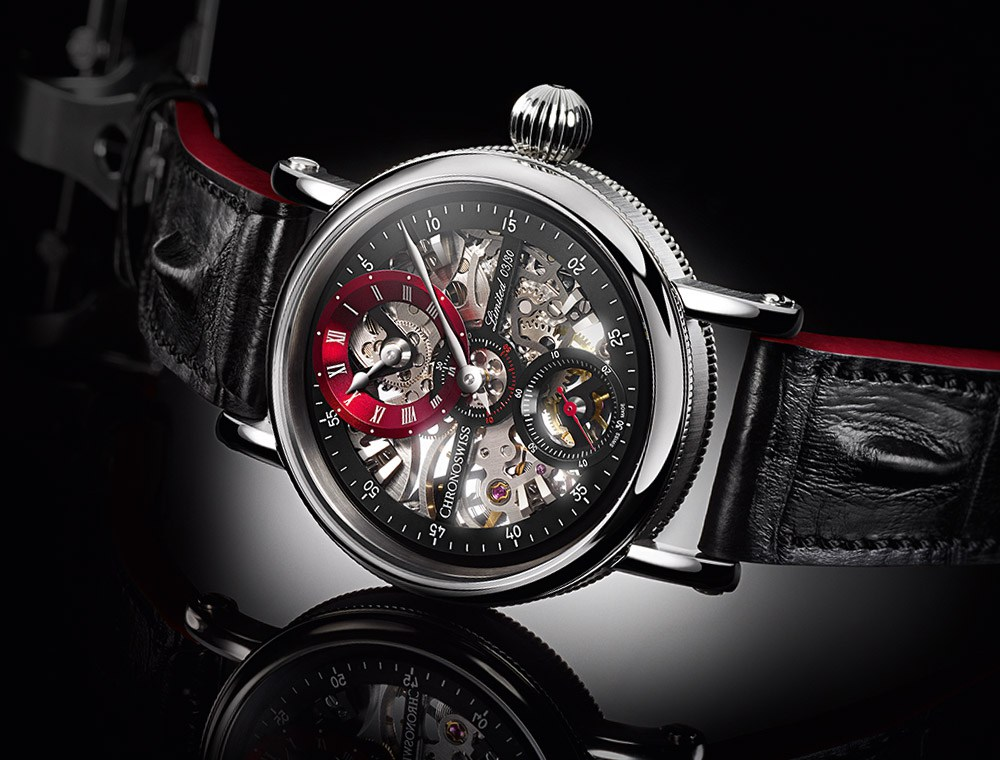 Chronoswiss Flying Grand Regulator Skeleton in zwart en rode uitvoering