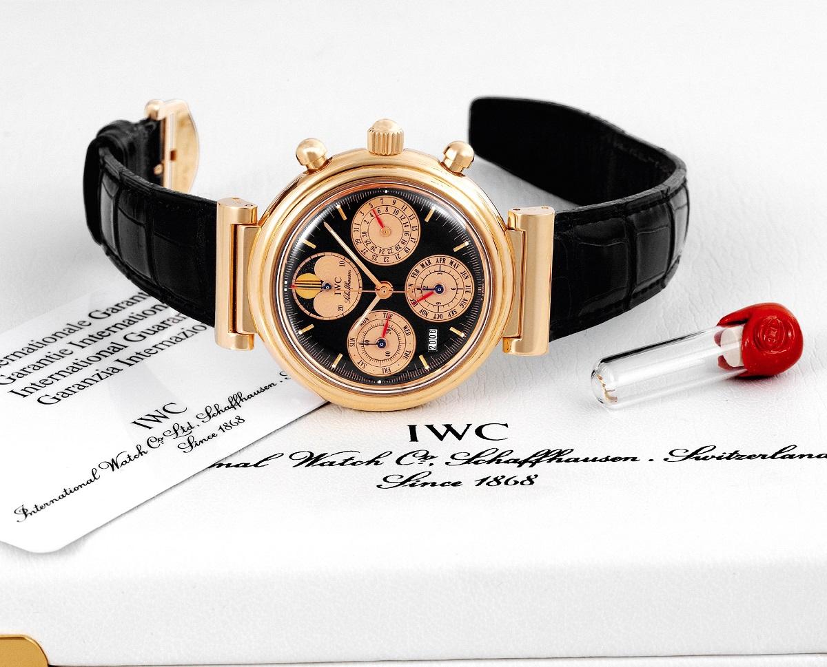 De IWC Da Vinci ref 3750-25 is een chronograaf met eeuwigdurende kalender uit 1985