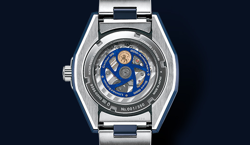 GMT-kaliber 9S86 in de Grand Seiko Blue Ceramic Hi-Beat GMT 36000 Limited Edition