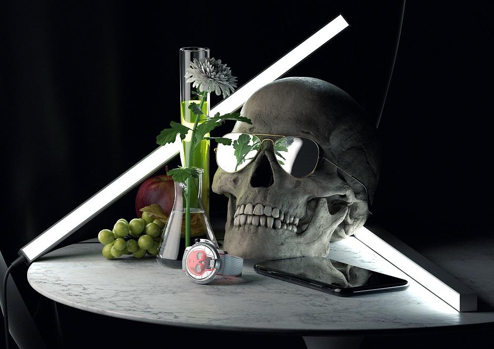 Stilleven met de HYT Skull 48.8 Red