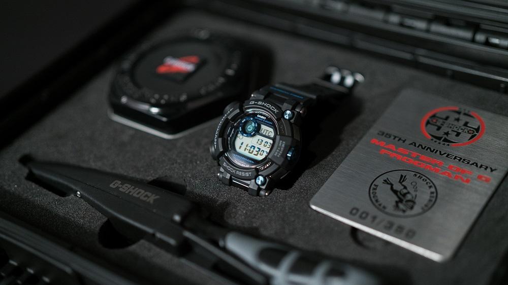 De luxueus verpakte G-Shock Frogman Limited Edition GWF-D1000 is voer voor verzamelaars; 350 stuks om precies te zijn