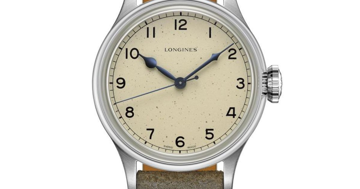 The Longines Heritage Military is puur retro