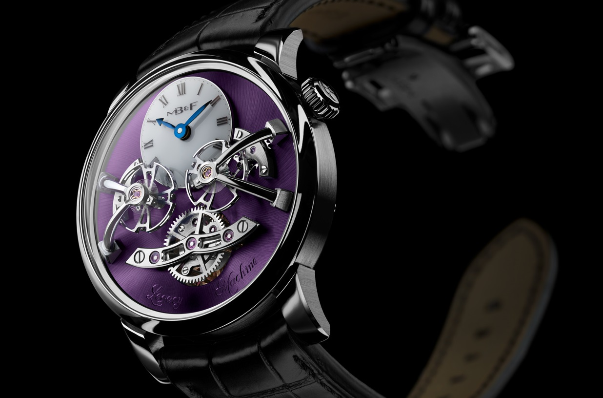 De pimpelpaarse MB&F LM2 White Gold Purple