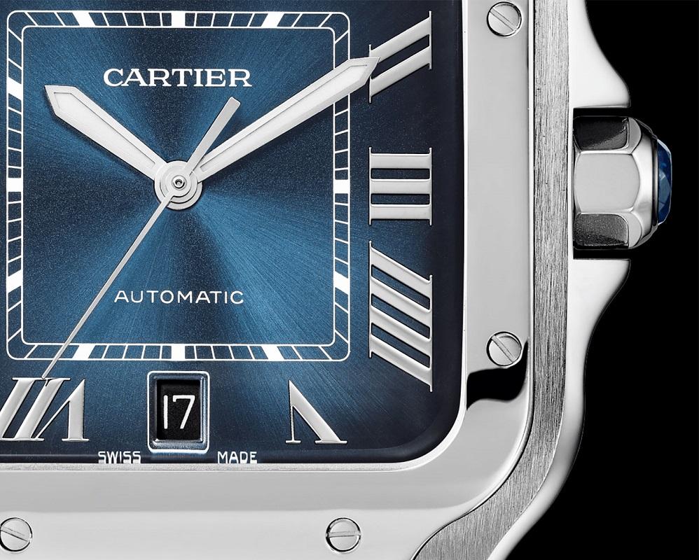 De pre-SIHH 2019 Cartier Santos in blauw