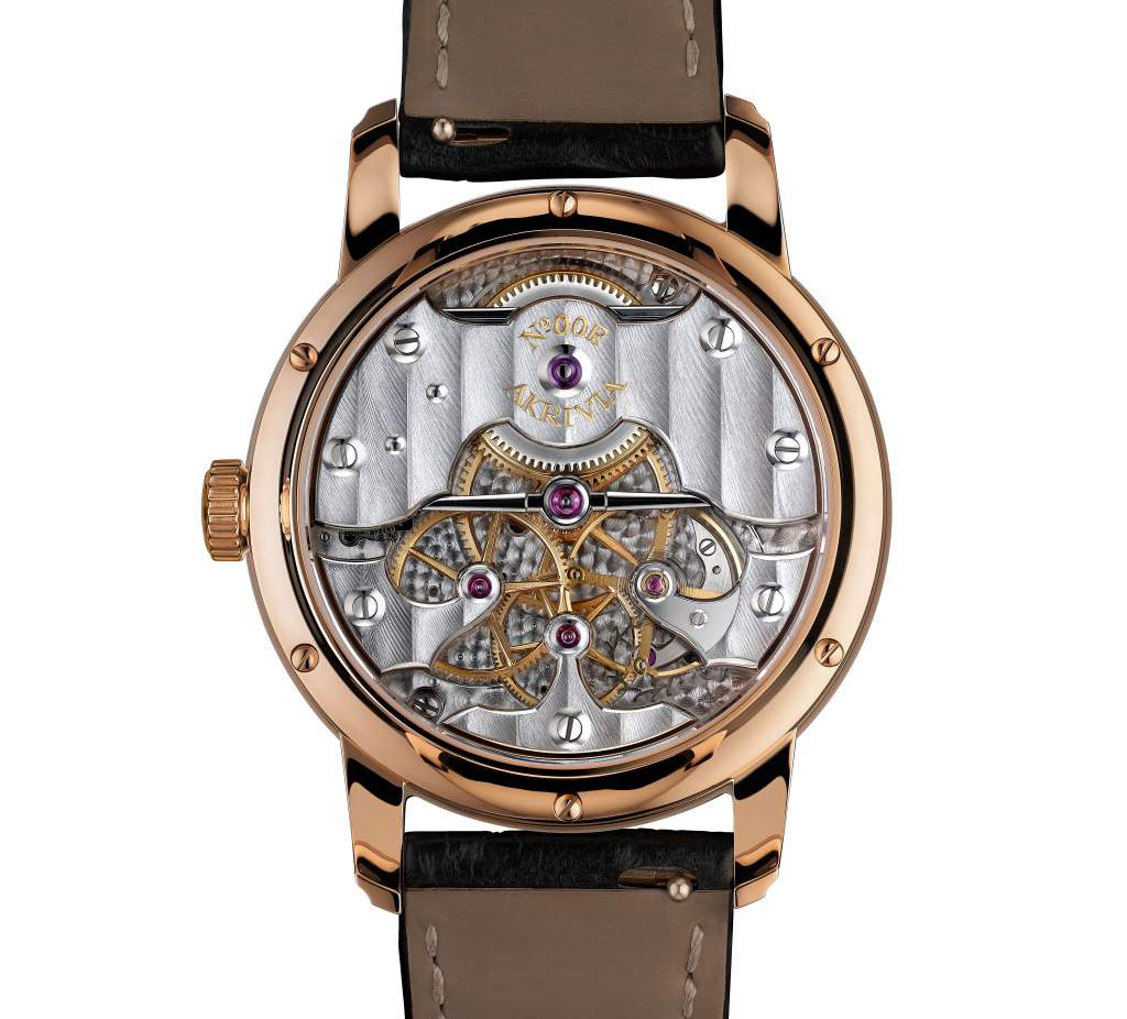 De winnende Akrivia Chronomètre Contemporain