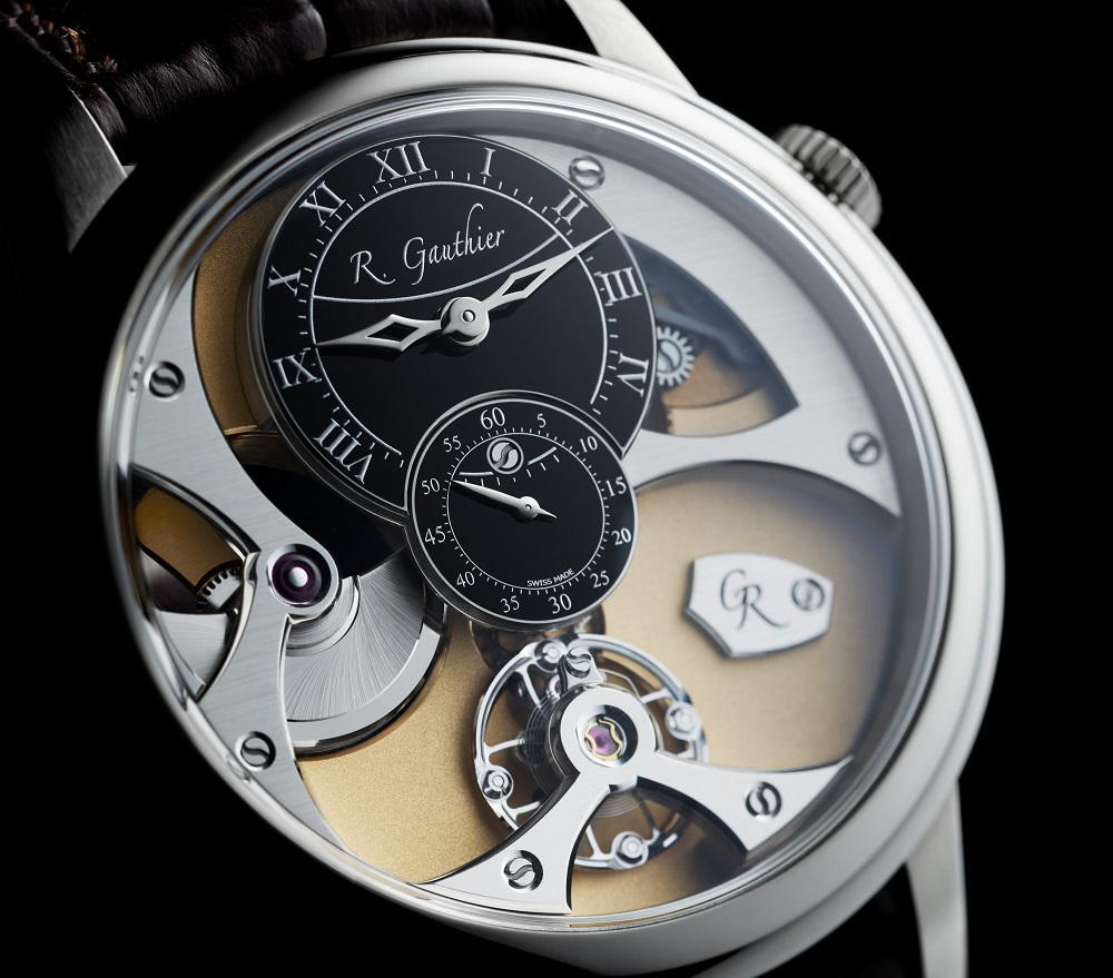 Romain Gauthier Insight Micro-Rotor white gold limited edition met klassieke witte email wijzerplaat