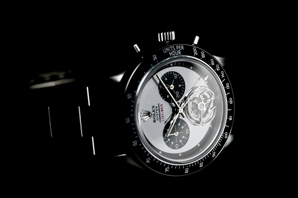 Label Noir bouwt een Rolex Daytona met tourbillon