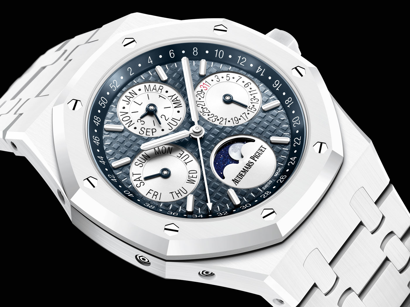 Royal Oak Perpetual Calendar White Ceramic