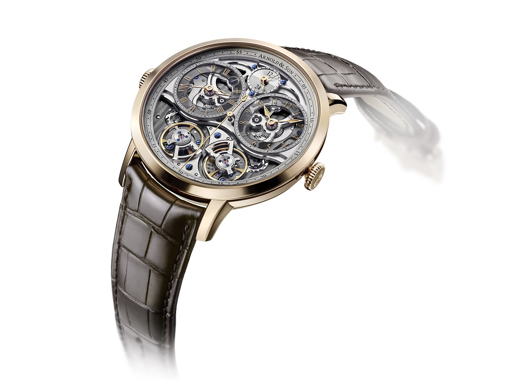 Double Tourbillon Escapement en Double Balance GMT Skeleton
