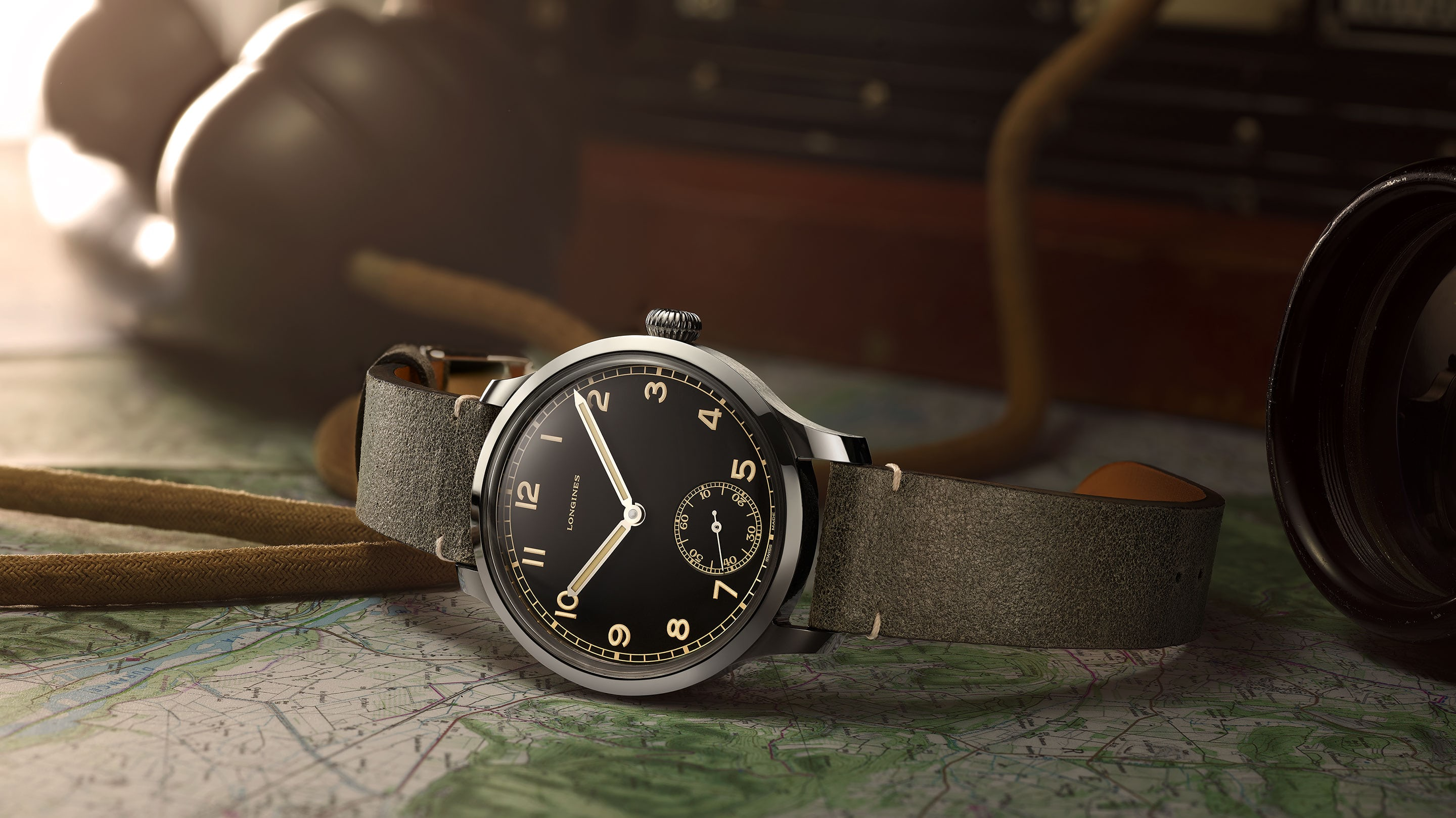 De 43 mm Longines Heritage Military 1938