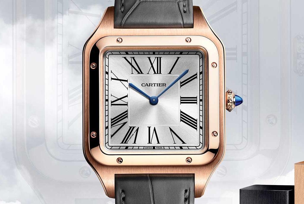 Cartier Santos Dumont XL met mechanisch uurwerk